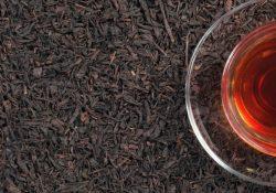 Sort te er oxiderede teblade